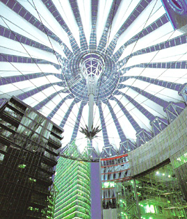 a picture of the sony centre in Berlin