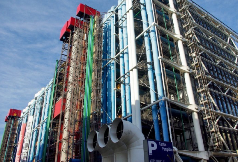 The Centre Pompidou, Paris