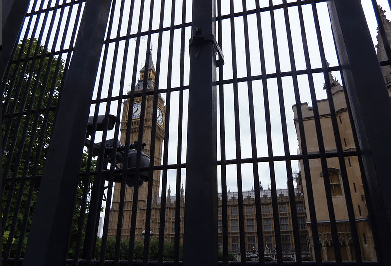 The gates of UK Parliament